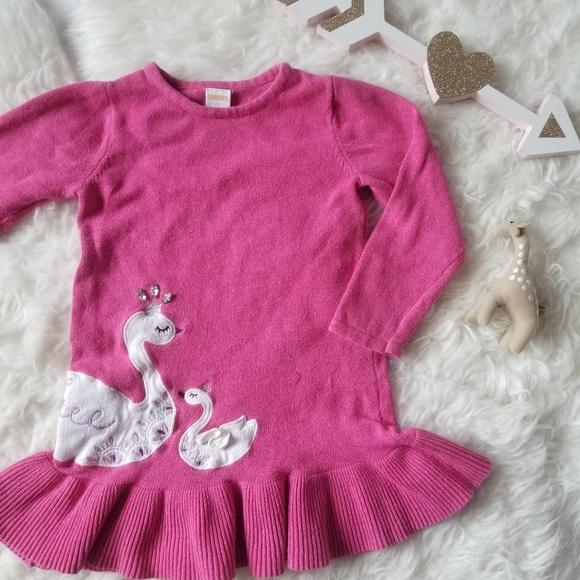 Dresses Gymboree Girls Furry Cat Pink Sweater Dress Sz 7 New Girls' Clothing (sizes 4 & Up)